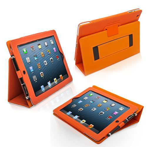 snugg housse ipad 3 ipad 4 r tina cuir orange prix pas cher cdiscount. Black Bedroom Furniture Sets. Home Design Ideas