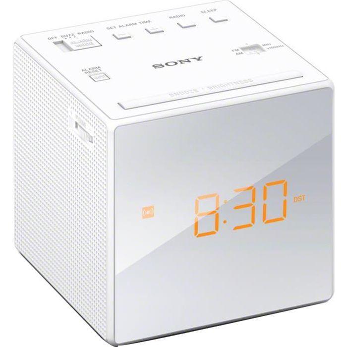Radio réveil SONY ICFC1 BLEND-IN Radio réveil - Blanc