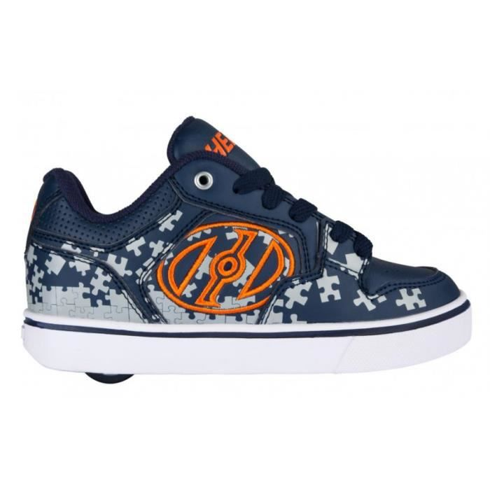 Heelys chaussure à roulette motion plus 770816 navy grey orange