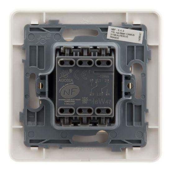 Artezo Interrupteur Va Et Vient Double 10 A Blanc Achat Vente Interrupteur Interrupteur Double 10 A Blanc Cdiscount