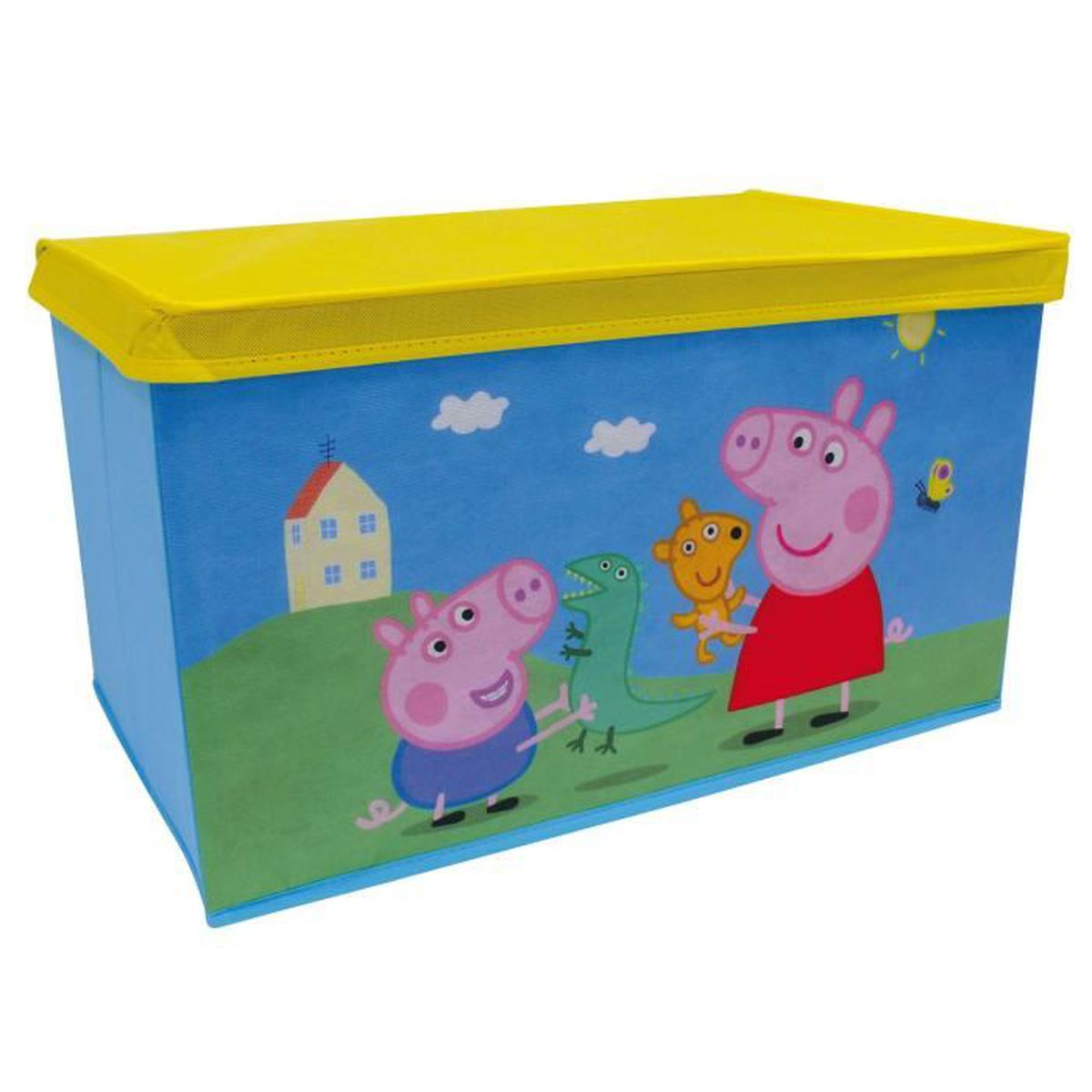 banc coffre jouets en tissu pliable peppa pig achat. Black Bedroom Furniture Sets. Home Design Ideas