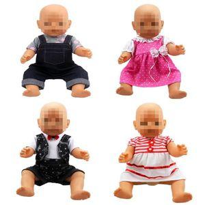 ACCESSOIRE POUPÉE  Vêtements de poupées, 4 Robes à la main Vêtements