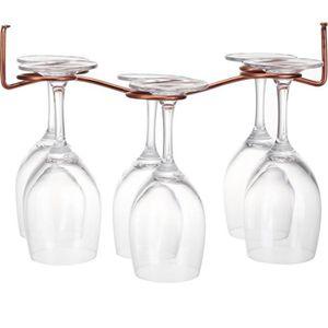 PORTE-VERRE Porte-verres à Pied en Métal Bronzé Présentoir Rac
