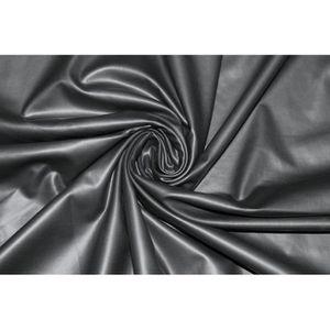 TISSU Tissu Legging Uni Noir -Au Mètre