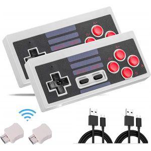 MANETTE JEUX VIDÉO Rechargeable Manette NES Classic pour Nintendo Min