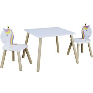 Cocoarm Ensemble de Table et chaises pour Enfants Table /à Fleurs en Bois et Chaise pour Enfants Enfants /étudiant la Peinture /à l/école /à Domicile Ensemble Table et chaises en Bois