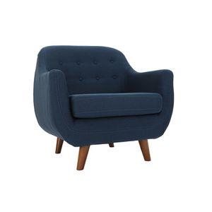 FAUTEUIL Miliboo - Fauteuil design déhoussable bleu YNOK