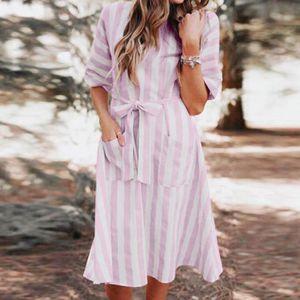 ROBE Robe:Femmes Vintage Bohême Tie-teints à manches co