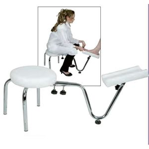 TABOURET tabouret pedicure avec support pied nancy beaute