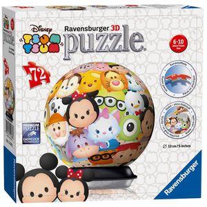 CASSE-TÊTE Ravensburger Disney Tsum Tsum, Puzzle 3d 72 Pièces
