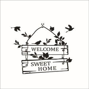 TABLEAU - TOILE Cosanter Sticker mural bienvenue à la douce maison