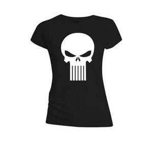 T-SHIRT Punisher - T-Shirt femme The  Skull Logo Noir (S)