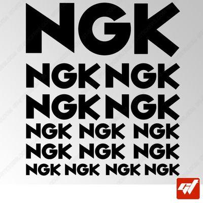 NGK Autocollant-Blanc