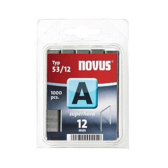 Novus 042-0369 Blister de 2000 Agrafes fines 37//6 mm Renforc/ées Rouge