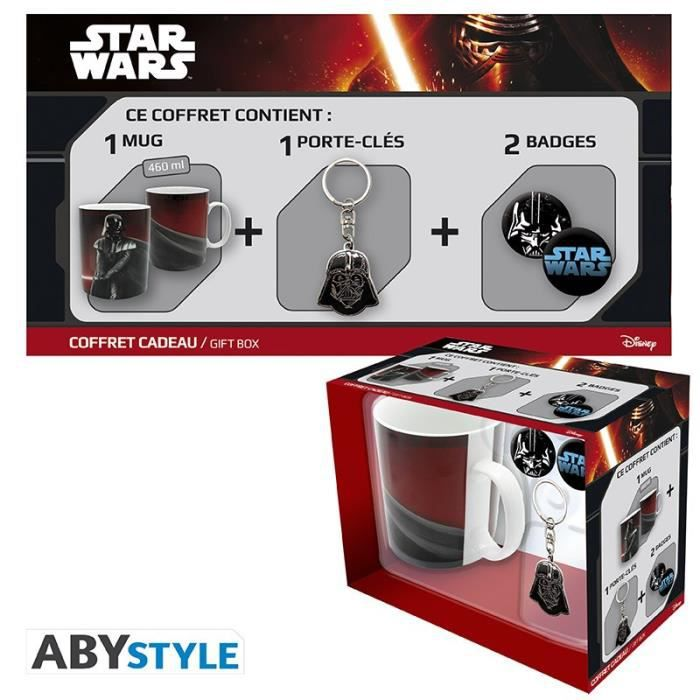 Pack Mug + Porte-clés + Badges Star Wars - Vador - ABYstyle