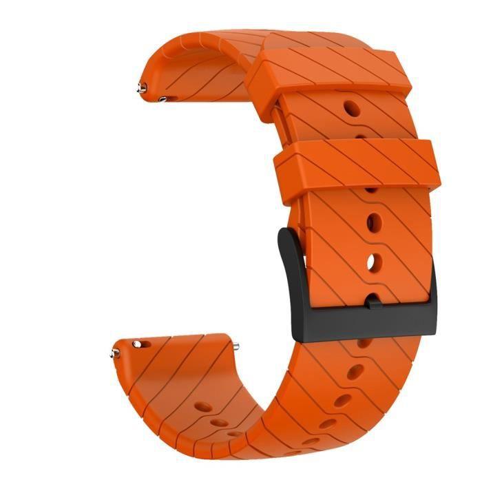 bracelet de montre vendu seul Bracelet de remplacement en silicone souple pour montre Suunto 9-9 Baro Copper FQQ90916107OR_wat