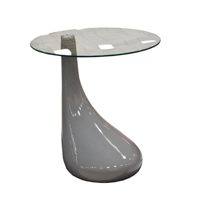 Table basse laquée design gris