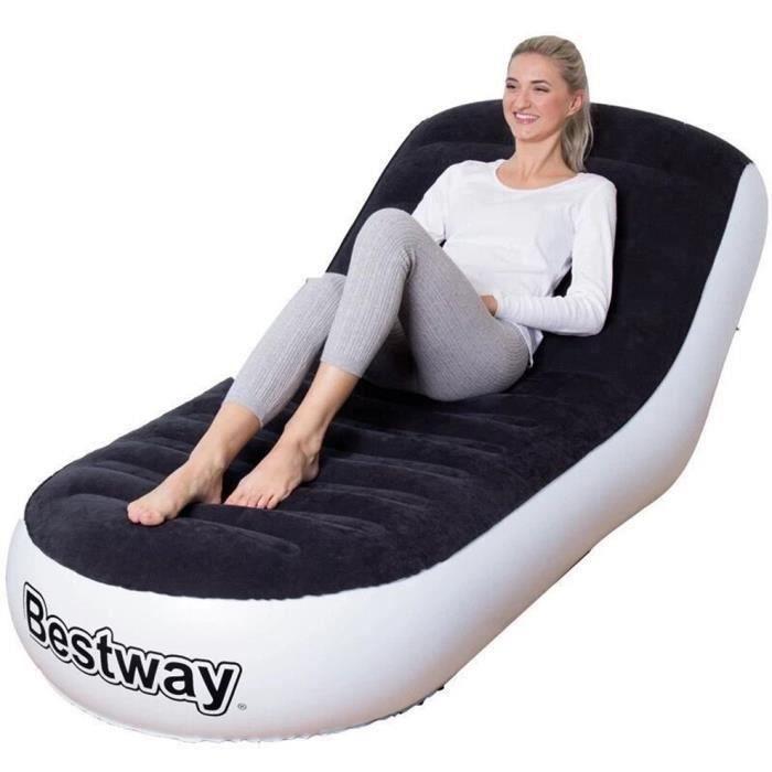 Canapé gonflable extérieur simple Tatami Sofa pliable Fauteuil inclinable pliable Sac de couchage de plage - 165*84*79cm