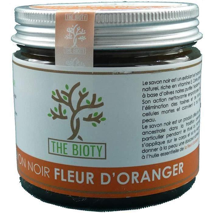 Savon Noir Traditionnel pour Hammam et Gommage Exfoliant Naturel du Maroc - Pot de de 200 G (200g) : 4 Parfums (Fleur d' 11554