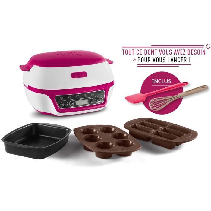 Tefal Cake Factory Machine Intelligente à Gâteaux, Appareil Cuisson Conviviale, Pâtisserie, Muffins, 3 Moules Fouet et Spatule Inclu