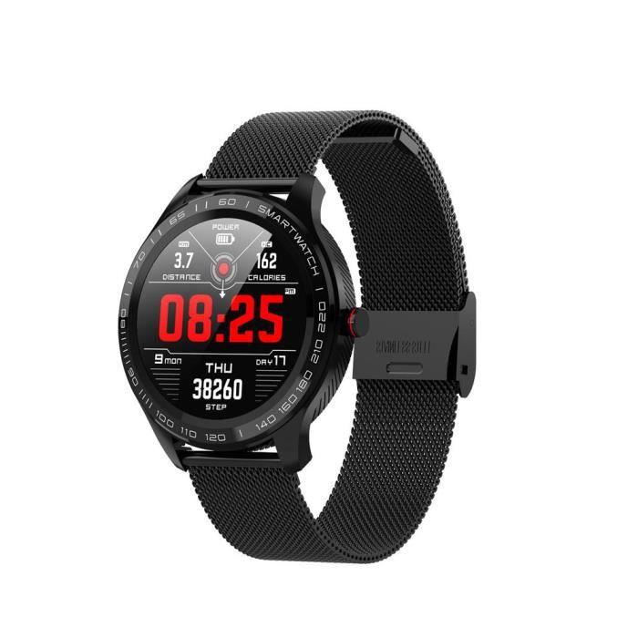 A Offre spéciale montre intelligente Microwear L9 1.3 pouces écran tactile rond complet 300mAh PPG + ECG fréquence cardiaque IP68 Fa