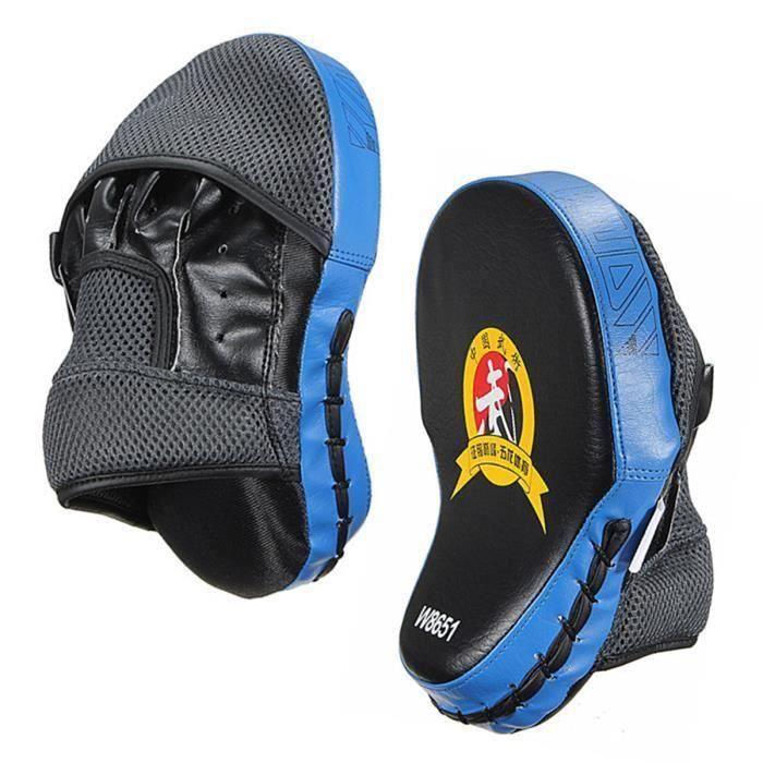 2PCS Cible à Frappe Pattes d'Ours Gant Pour Boxe Thaï Taekwondo Karaté Sports Combat Formation Exercice Bleu @SHE