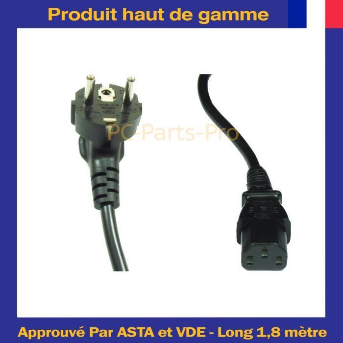 Lite an Cordon D'alimentation Pour Samsung Lg Panasonic Télé Lcd Led Tv Iec 320 C13 de 1,8 Câble secteur Eu vers C13