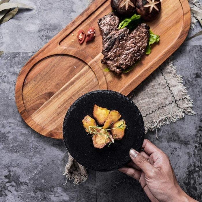 PLANCHE A DECOUPER Planche Agrave Steak En Bois Plateau Carreacute Japonais Sushi Barbecue Plat Assiettes Agrave Steak De Pizza 510