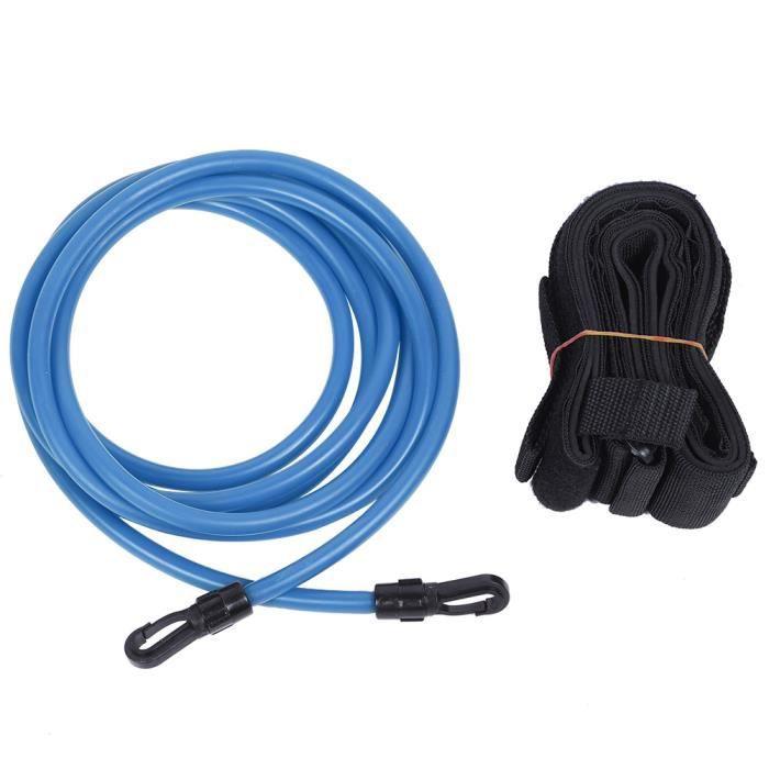 300cm Corde élastique équipement de formation de résistance de kit de ceinture de natation pour enfants adultes(Bleu)-GOL