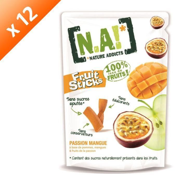 [LOT DE 12] N.A Fruit Sticks Doypack de Passion - Mangue - 40 g