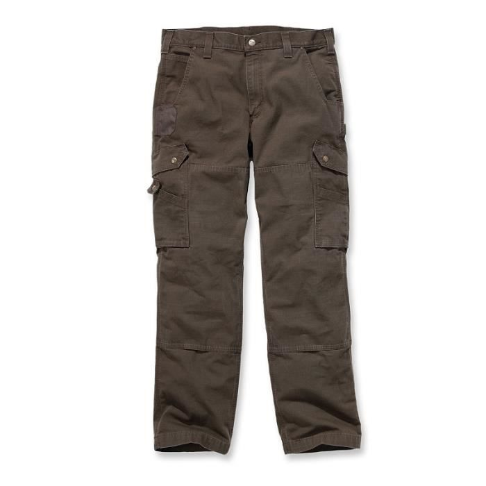 Pantalon CARGO 100% coton armé Ripstop avec renforts W28/L30 CARHARTT S1B342DFE2830 28 x 30 Marron Foncé