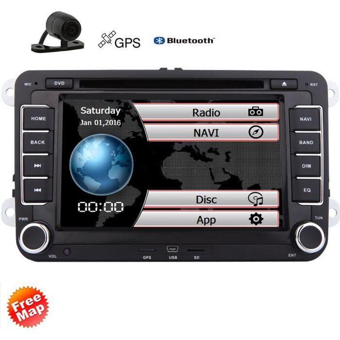 EINCAR AUTORADIO 7- Wince Car Radio Player GPS pour Volkswagen pour Skoda Pour Passat pleine navigation tactile de l'écran avec le