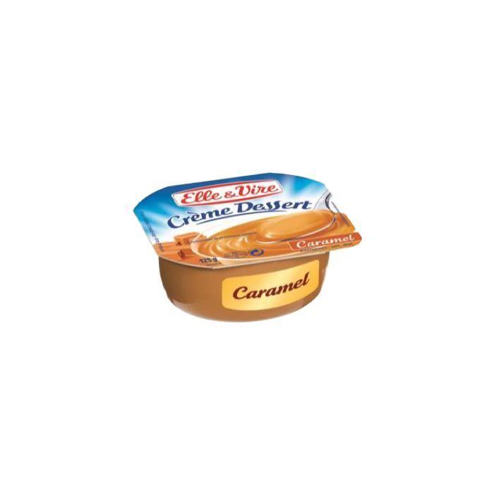 Crème dessert UHT Caramel en pot 125ml ELLE & VIRE (bte : 48 unités)
