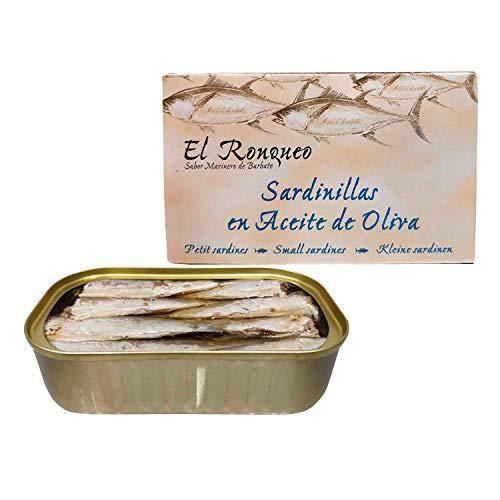 Sardines à l'huile d'olive (16/20 pièces) de 125 grammes (RR125) - El Ronqueo - Confiture gourmande fabriquée à Barbate (Espagne)