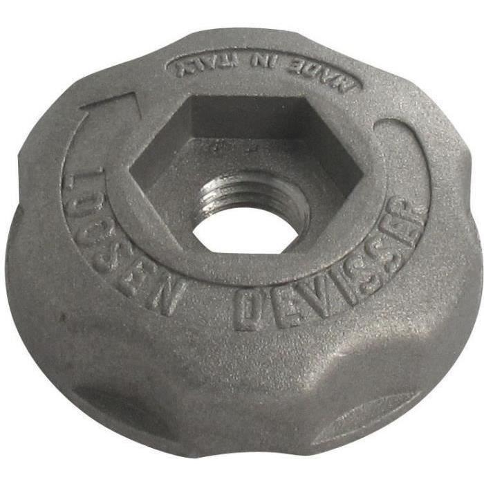 Écrou métal pas à gauche de rechange pour nos têtes fils nylon à bouton métal ARNETOLI MOTOR, TECOMEC