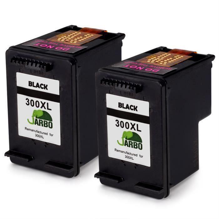 Compatible HP 300 Lot de 2 cartouches d'encre Noir et Trois couleurs pour (Cyan, Magenta, Jaune) pour HP Envy 100 110 114 120