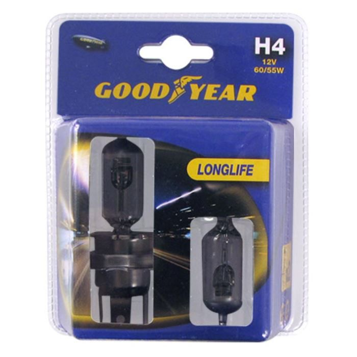 GOOD YEAR Longlife 2 ampoules feux de croisement 12v 60/55W H4
