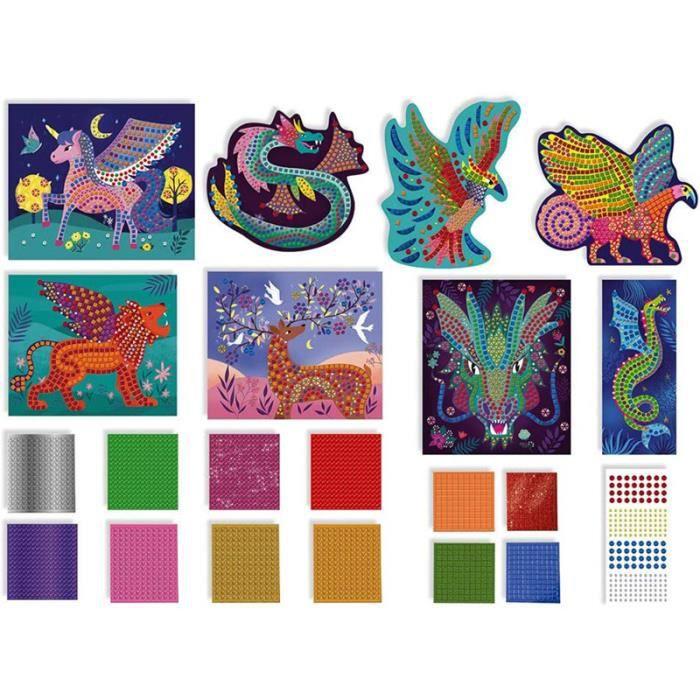 Mosaiques Gommettes - Créatures fantastiques