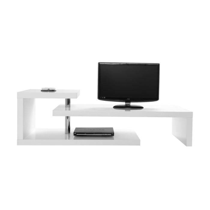 Miliboo - Meuble TV design laqué blanc TURN