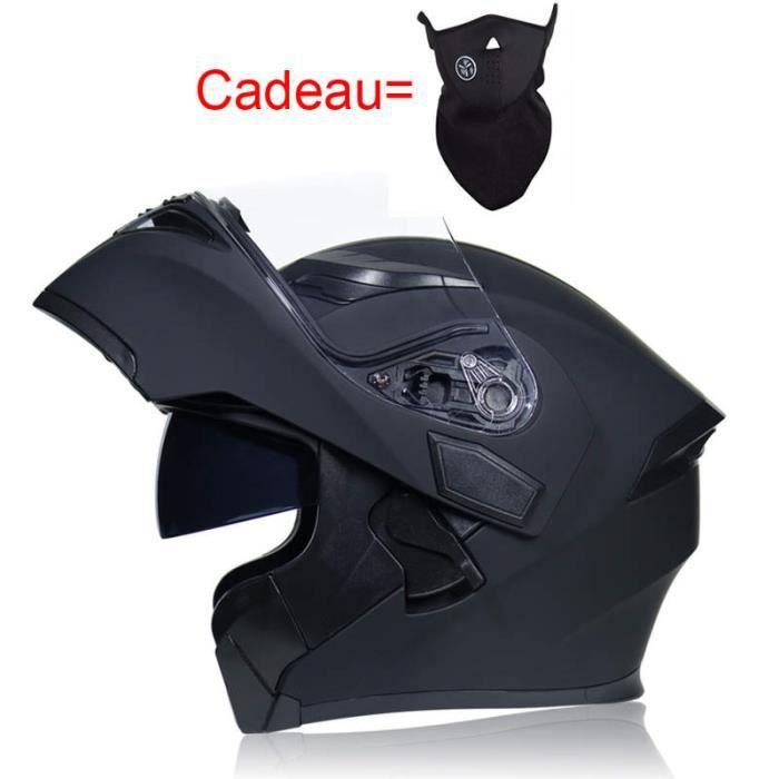 Casque Moto Unisexe de Marque luxe Casque ouvert à double lentille complète Lentille télescopique de anti-poussière casque intégral