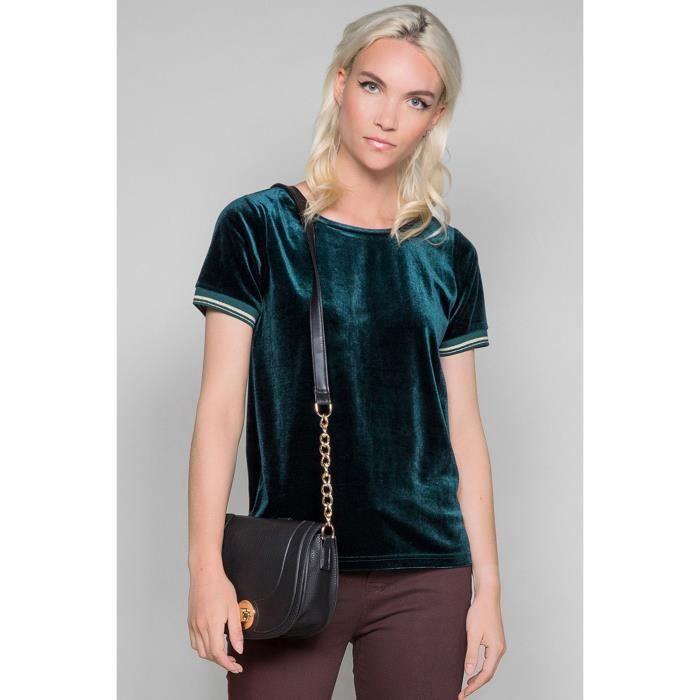 T-shirt en velours YOLLANA - Couleur - Forest, Taille - XL