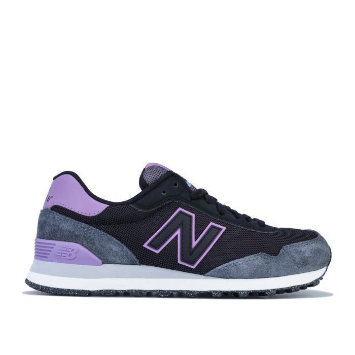 Baskets New Balance 515 Classic Pour Femme En Noir Et Violet