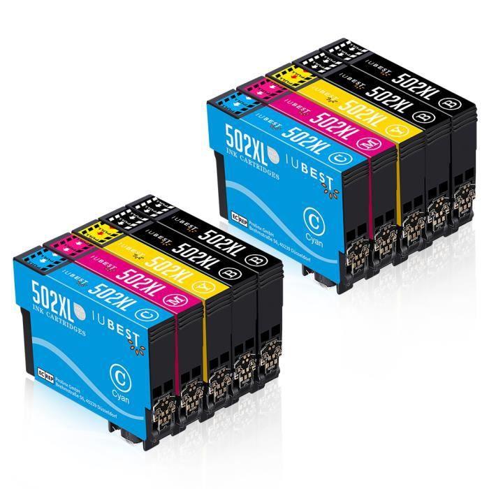 Compatible Epson 502 pour imprimante Epson Workforce WF2860 Cartouche d' encre pack de 10