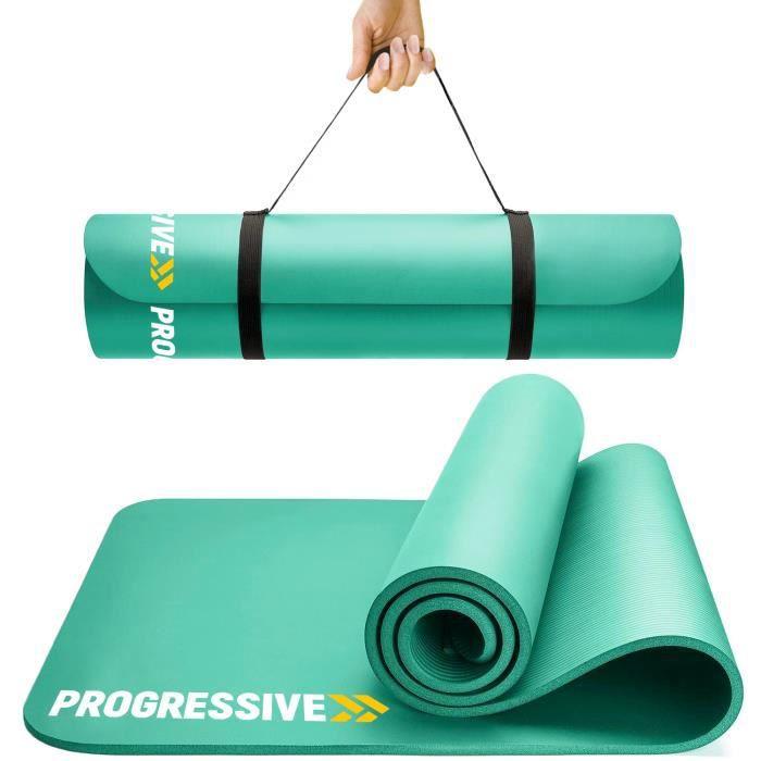 PROGRESSIVE Tapis de sol Tapis de sport Tapis de gymnastique Tapis de yoga en Mousse 183 cm x 60 cm x 1.2 cm Vert PRO120-GREEN