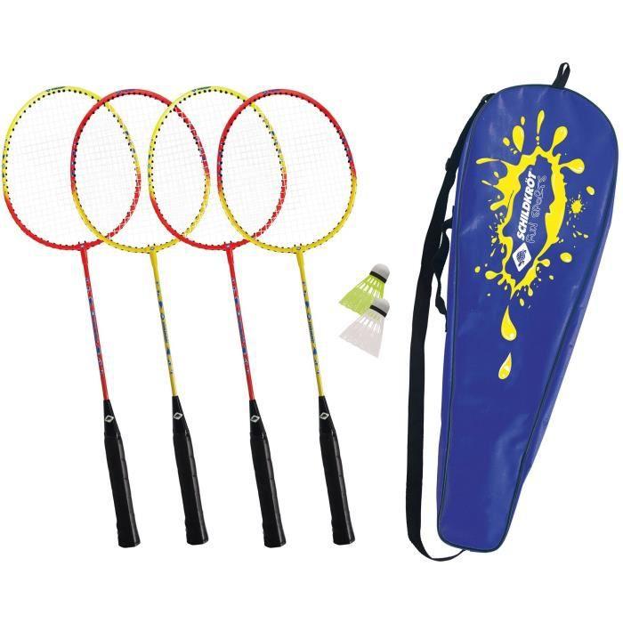SCHILDKROT Set de badminton 4 joueurs