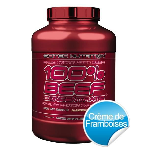100% BEEF CONCENTRATE - 2000g - Crème de frambo...