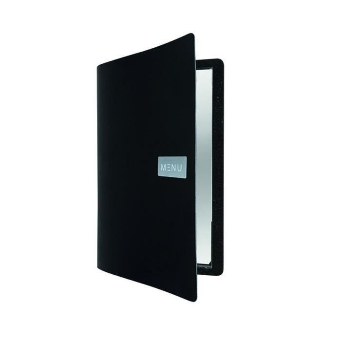 Protège-menu cuir noir ROYAL 0,5 Cuir