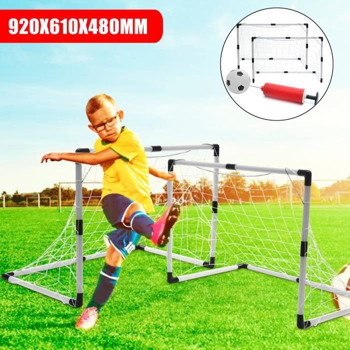 Set Ensemble 2 En 1 But De Football Amovible Jardin En PVC Avec Football Pour Enfant