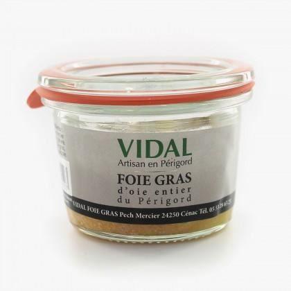 FOIE GRAS d'oie entier du Périgord 40 gr Vidal
