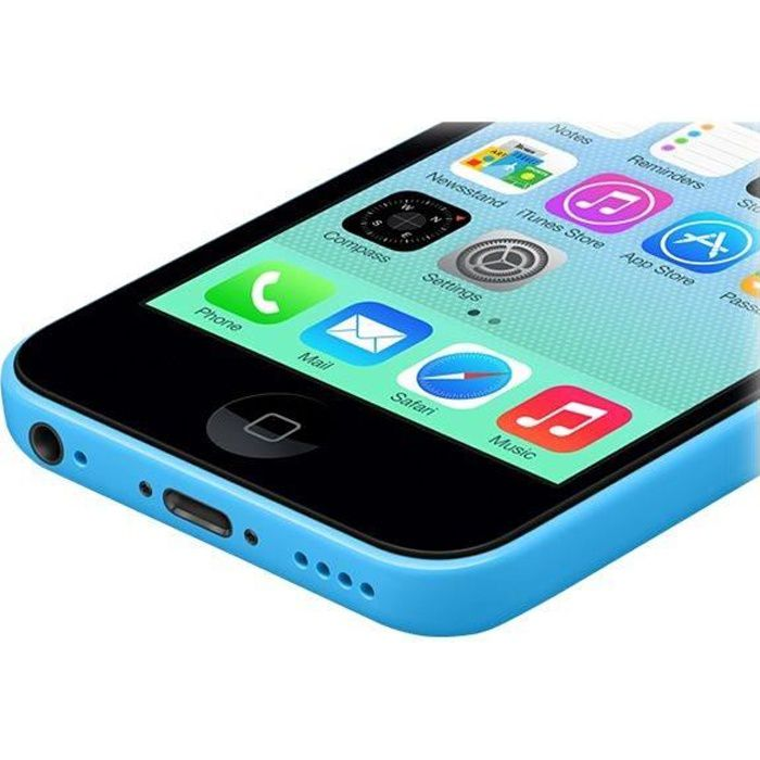 apple iphone 5c 8go bleu d bloqu tout op rateur achat smartphone pas cher avis et meilleur. Black Bedroom Furniture Sets. Home Design Ideas